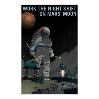 Mars Recruitment - Night Shift Poster
