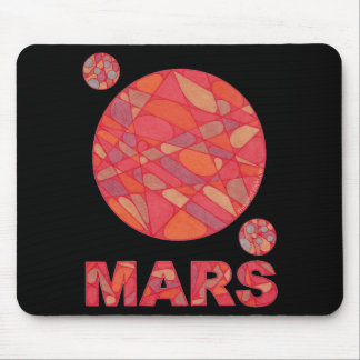 Mars Red Planet Art Geek Chic Mouse Pad