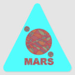 Mars Red Planet Art Triangle Stickers