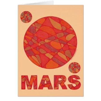 Mars Red Planet Love Geek Art Blank Cards
