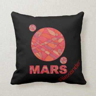 Mars Red Planet Personalized Space Decor Pillow