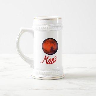 """Mars """"Retirement"""" Beer Stein"""