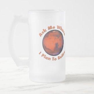 Mars Retirement Frosted Mug