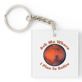 Mars Retirement Keychain