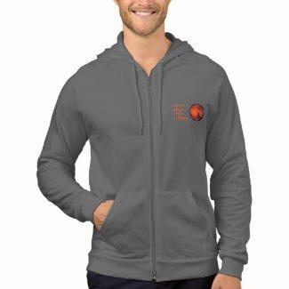 """Mars """"Retirement"""" Zip Front Hooded Sweatshirt"""