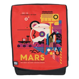 Mars Retro Futurist Space Tourism Illustration Backpack