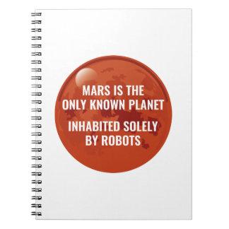 Mars Robot Spiral Notebook