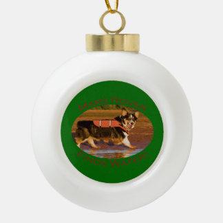 Mars Rover Ceramic Ball Christmas Ornament