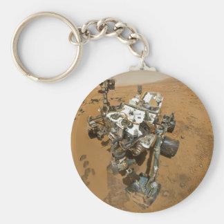 Mars Rover Curiosity at Rocknest Basic Round Button Keychain
