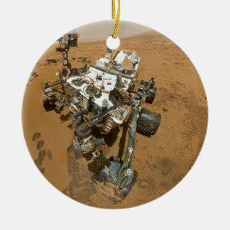 Mars Rover Curiosity at Rocknest Ceramic Ornament