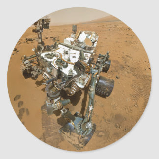 Mars Rover Curiosity at Rocknest Classic Round Sticker