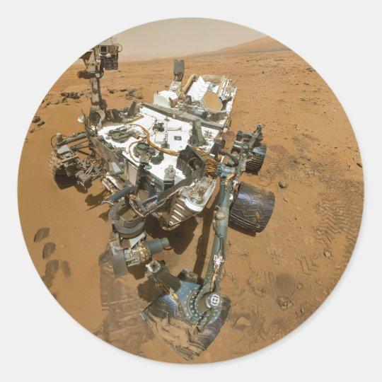Mars Rover Curiosity at Rocknest Classic Round Sticker