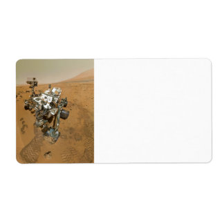 Mars Rover Curiosity at Rocknest Label