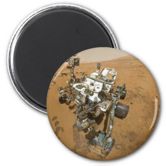 Mars Rover Curiosity at Rocknest Refrigerator Magnets