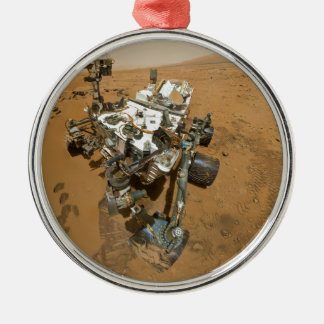 Mars Rover Curiosity at Rocknest Christmas Ornament