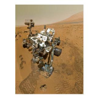 Mars Rover Curiosity at Rocknest Postcard