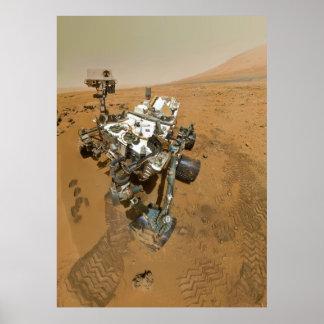 Mars Rover Curiosity at Rocknest Poster