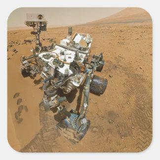 Mars Rover Curiosity at Rocknest Square Sticker
