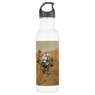 Mars Rover Curiosity at Rocknest Stainless Steel Water Bottle