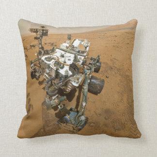 Mars Rover Curiosity at Rocknest Throw Pillow