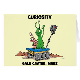 Mars Rover Curiosity Card