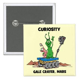 Mars Rover Curiosity Pinback Button