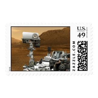 Mars Rover Curiosity Postage Stamp