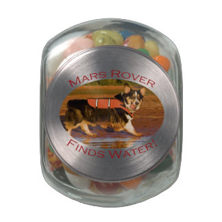 Mars Rover Glass Candy Jar