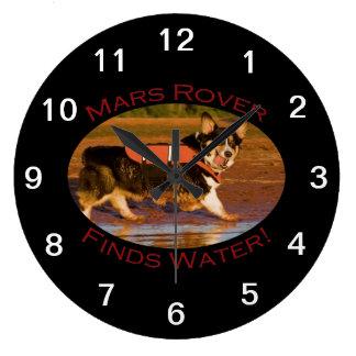 Mars Rover Large Clock