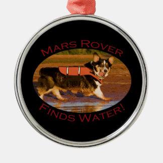 Mars Rover Metal Ornament