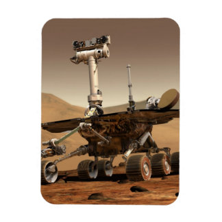 Mars Rover Rectangle Magnet