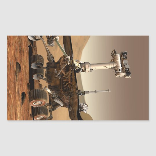 Mars Rover Rectangular Sticker