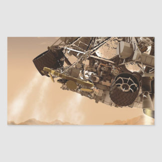Mars Rover Space Liftoff Moon Lunar Rectangular Sticker