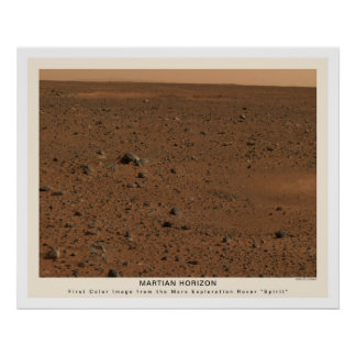 Mars Rover Spirit First Photo 2004 Poster