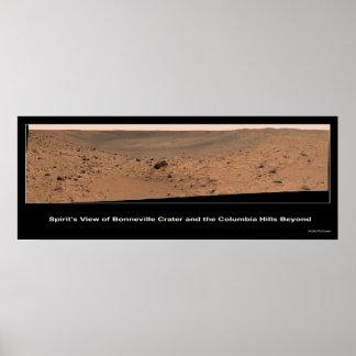 Mars Rover Spirit's Destination:  Columbia Hills Posters