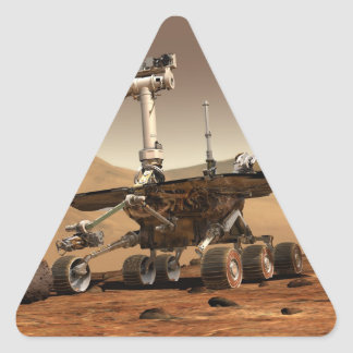 Mars Rover Triangle Sticker