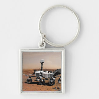 Mars Science Laboratory 2 Silver-Colored Square Keychain