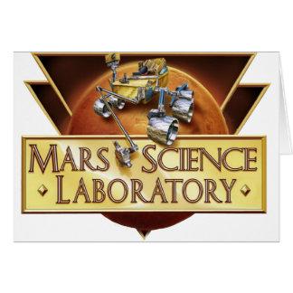 Mars Science Laboratory Landing Team Logo Card