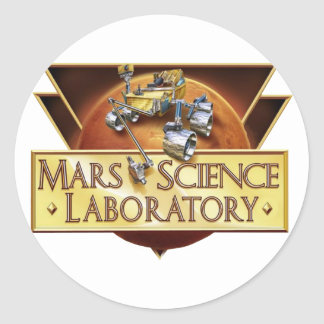 Mars Science Laboratory Landing Team Logo Classic Round Sticker