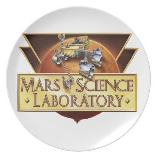 Mars Science Laboratory Landing Team Logo Dinner Plate