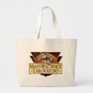 Mars Science Laboratory Landing Team Logo Large Tote Bag
