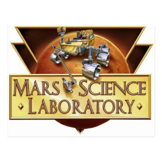 Mars Science Laboratory Landing Team Logo Postcard