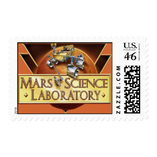 MARS SCIENCE LABORATORY LAUNCH TEAM LOGO POSTAGE STAMPS