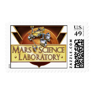 MARS SCIENCE LABORATORY LAUNCH TEAM LOGO POSTAGE STAMP