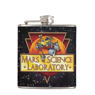 Mars Science Laboratory Mission Logo Hip Flask