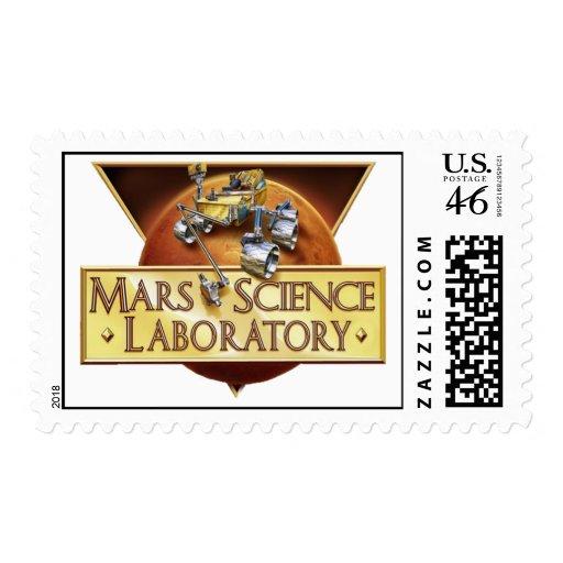 MARS SCIENCE LABORATORY MISSION LOGO STAMP