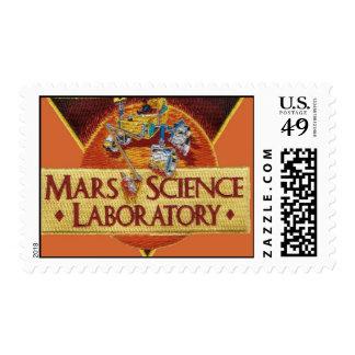MARS SCIENCE LABORATORY MISSION LOGO POSTAGE STAMP