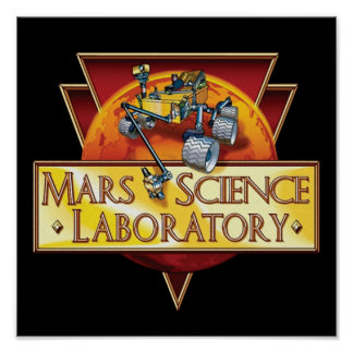 Mars Science Laboratory Mission Logo Poster