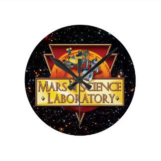 Mars Science Laboratory Mission Logo Round Clock