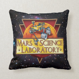 Mars Science Laboratory Mission Logo Throw Pillow